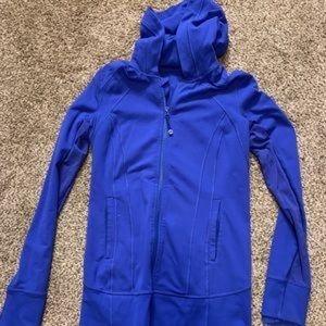 Lululemon Blue Zip up hoodie